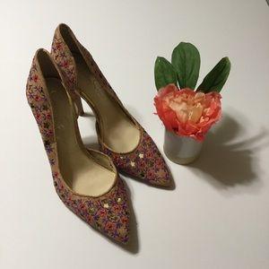 Jessica Simpson Shoes - Jessica Simpson Floral Cork heels